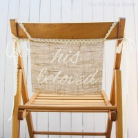 DIY Burlap Chair Signs for the Bride & Groom