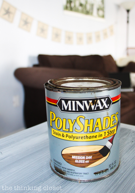 MINWAX PolyShades Stain - - perfect for staining and sealing wooden clothespin place card holders for a Rustic Vintage Wedding!
