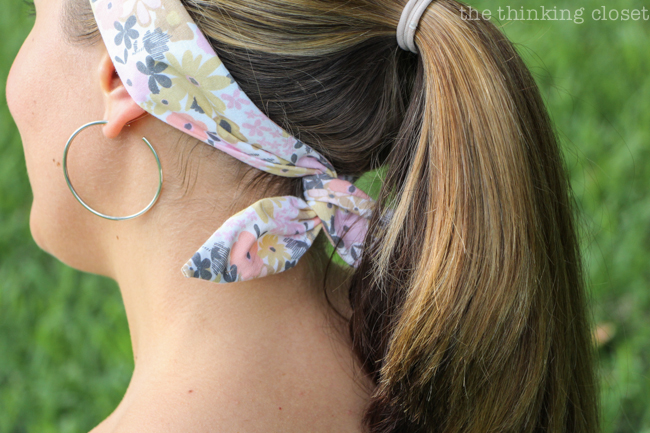 DIY Wire Head Scarf for the Beginner Sewist | Another inspirational Scarf Week tutorial that is fun, easy, and will open you up to a whole new world of head scarves that actually stay on your head!  Lots of step by step photos help make this project extra do-able!