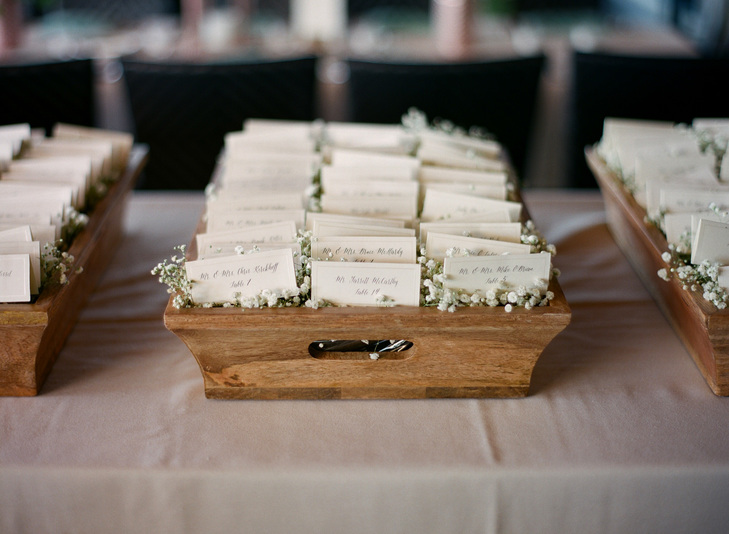 the inspiration for our rustic vintage display of the clothespin place card holders