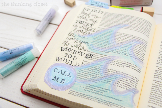 Fun with Gelatos! Just part of the Flip-Through Video Tour of My Journaling Bible | Join me on this fun lil' video tour of the first 10 entries of my E.S.V. Journaling Bible in which I share tips, tricks, favorite supplies, techniques I've been exploring, and why this has been such a meaningful way for me to study the Bible these past 3 months. I hope it's an encouragement to you wherever you find yourself in your journey.