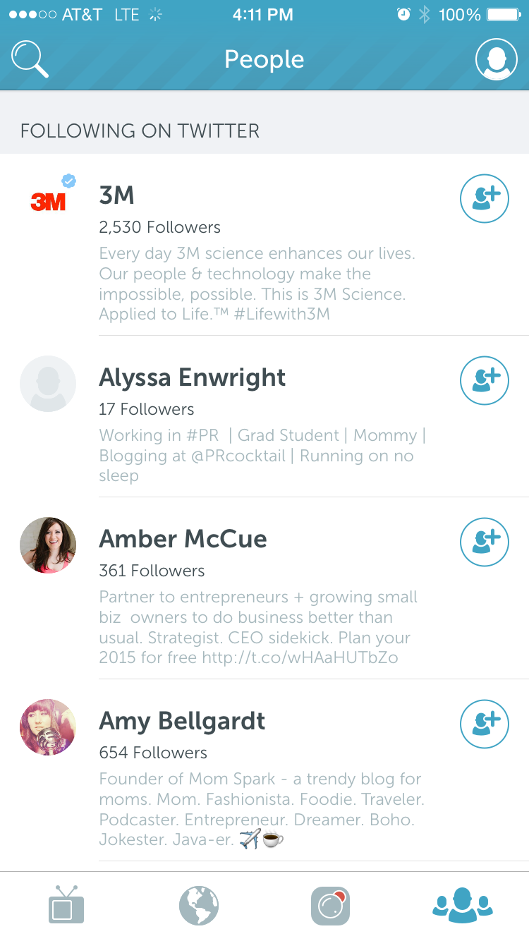 PEOPLE to follow on Periscope from your Twitter follower pool!
