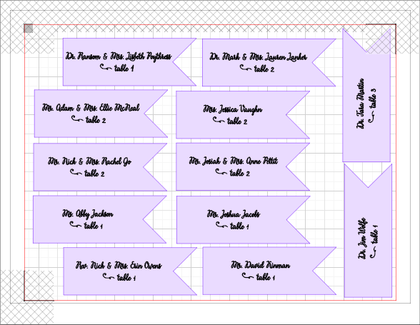 FREE Silhouette Cut File for Place Card Flags, perfect for clipping into some rustic vintage clothespins!