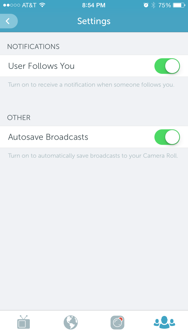 Periscope Settings - Autosave Broadcast option!