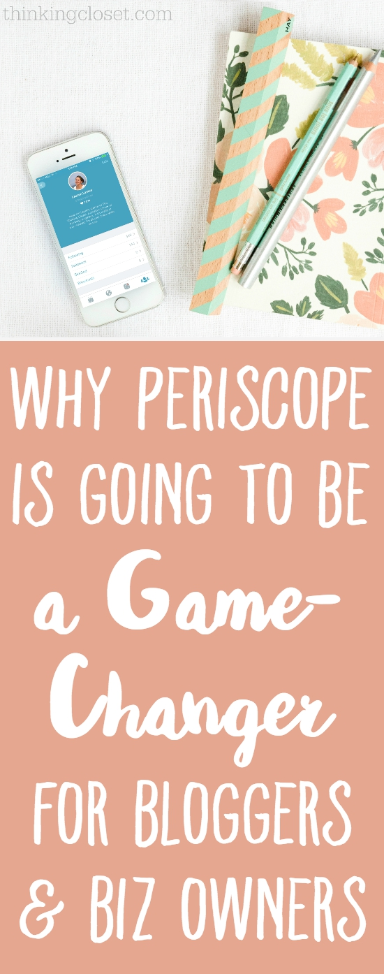 Why Periscope is Going to be a Game-Changer for Bloggers & Business Owners | If you're not on Periscope, you will be after hearing these 5 enticing reasons why this new app is changing the game as we know it. We have an incredible opportunity as bloggers and biz owners to use Periscope as a tool for growing a loyal following, creating quality content with low hassle, and...well...you'll have to read the post to find out the rest!