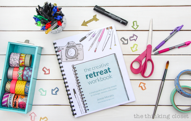 The Creative Retreat Workbook by Jennie Moraitis | After scribbling and doodling my way through The Creative Retreat Workbook, I am convinced that mini-retreats are not only something I need in my busy life, but something I now have the tools to make happen. Jennie truly has a gift for helping readers overcome their fears in order to unlock their creative potential.