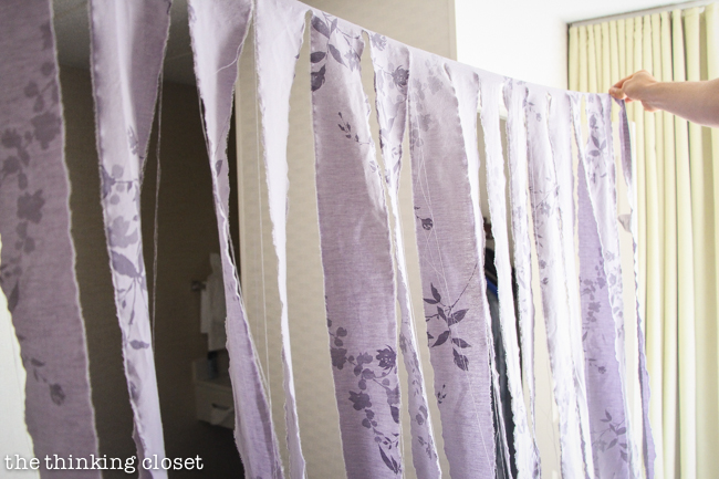 D I Y Shabby Chic Fabric Photo Booth Backdrop The Thinking Closet