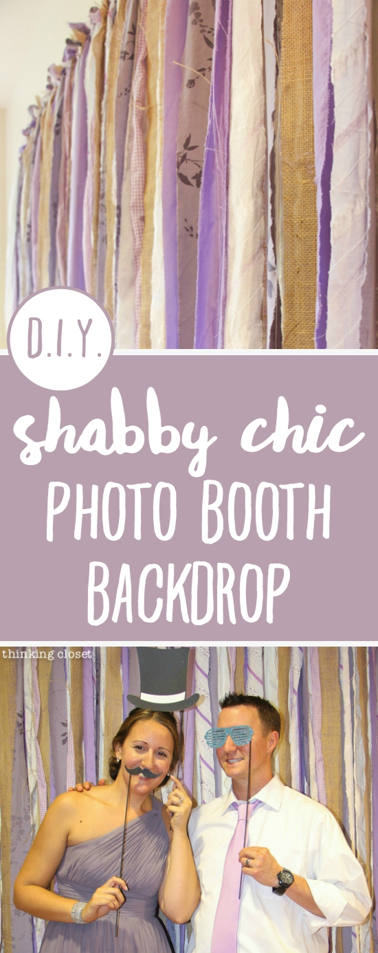 DIY Shabby Chic Fabric Photo Booth Backdrop