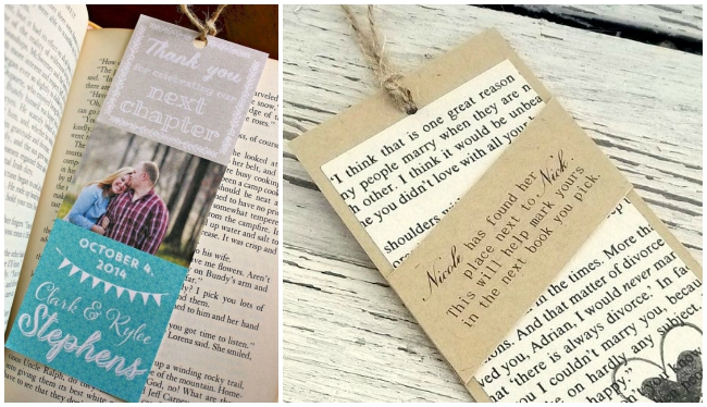 Diy Bookmark Wedding Favors The Thinking Closet