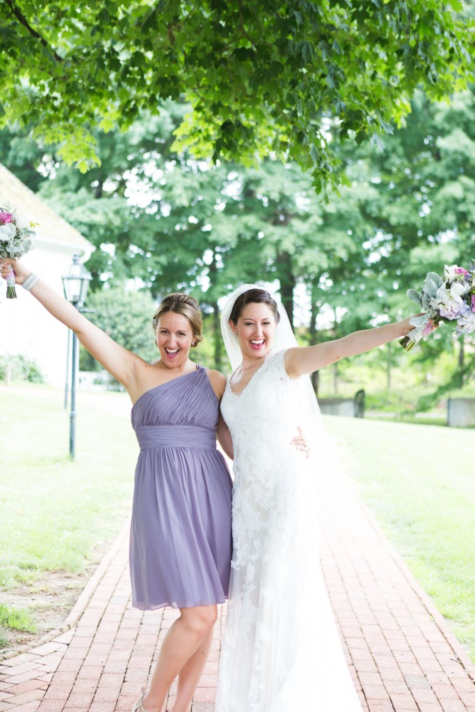 Sisters! The bride & C.O.B. {Chief of Bridesmaids} being hams!