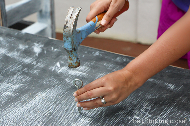 The Beginner's Guide to Distressing with Annie Sloan | Here are some fun aging techniques you can employ to distress the surface of your furniture piece before diving in to painting. Get out your tools and prepare to get loud!