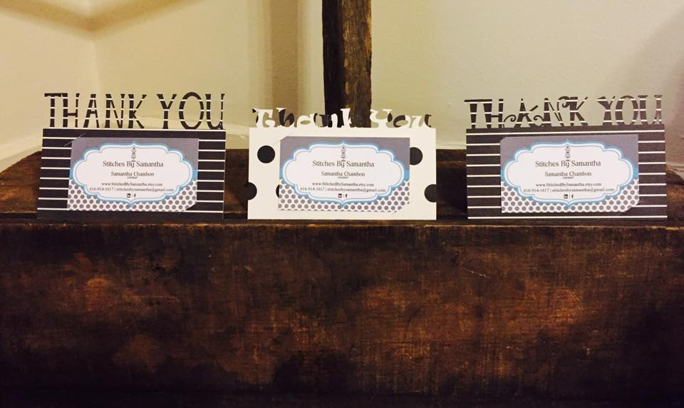 Biz Card Holders by Stitches By Samantha, Featured in The Thinking Closet's Summer 2015 Reader Showcase.