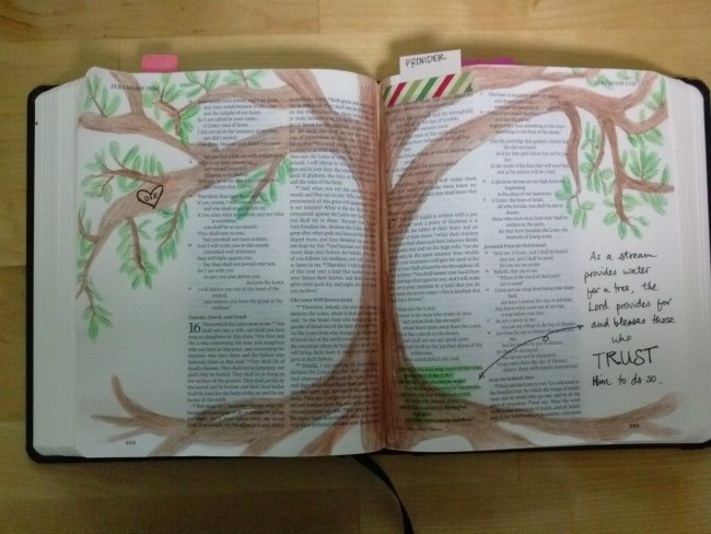 Journaling Bible Entry by Emme, Featured in The Thinking Closet's Summer 2015 Reader Showcase.