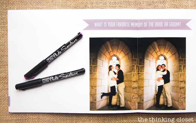 wedding guest book instructions