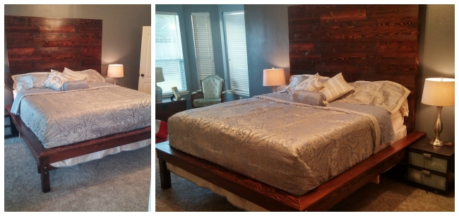 Custom King Bed by Jennifer & David, Featured in The Thinking Closet's Summer 2015 Reader Showcase.