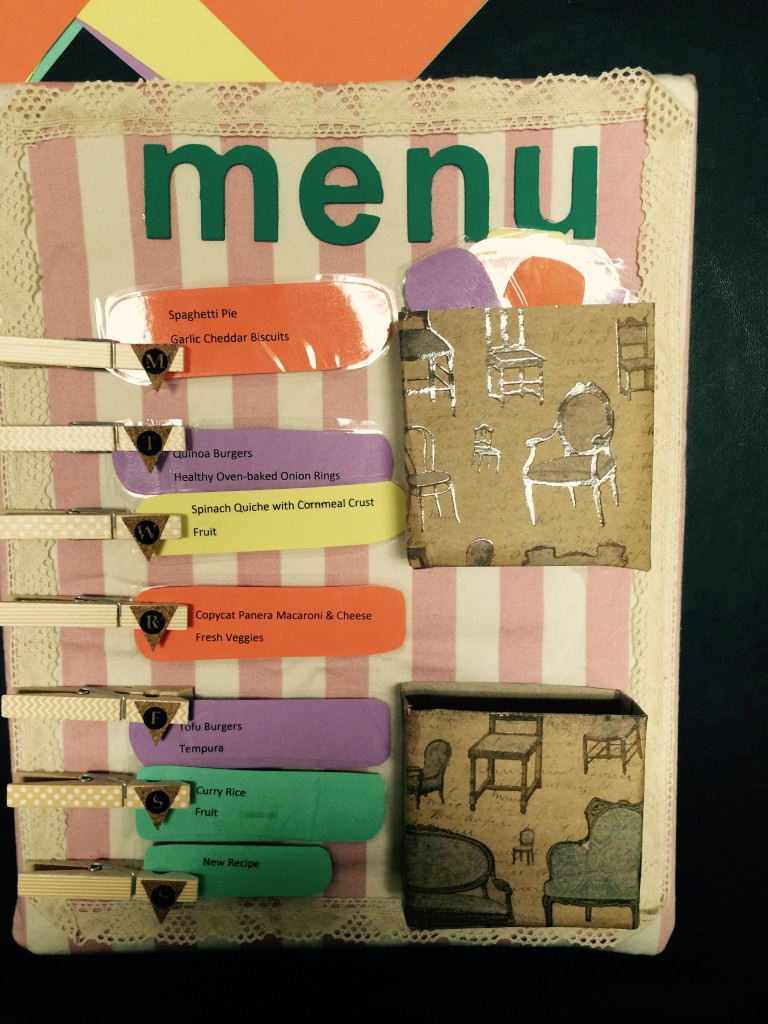 Menu Planner by The Multi-Tasking Missus, Featured in The Thinking Closet's Summer 2015 Reader Showcase.