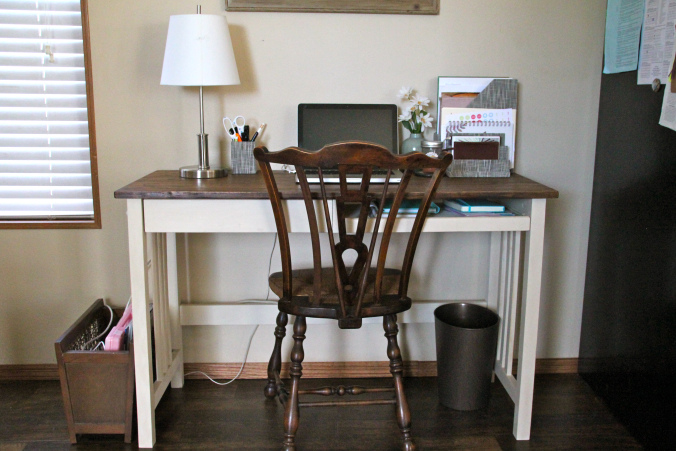 Desk Makeover with Chalk Paint by Annie Sloan by Boomtown Diaries, Featured in The Thinking Closet's Summer 2015 Reader Showcase.