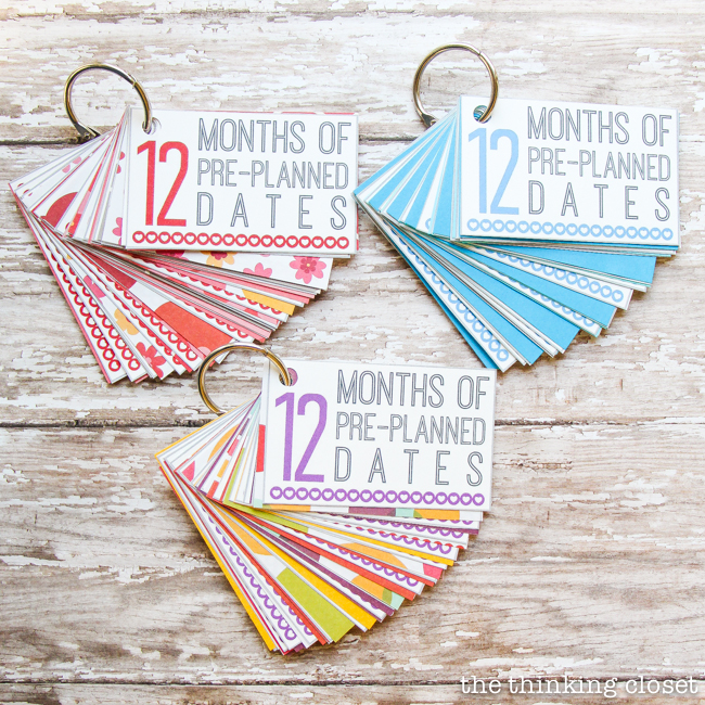 12 Months Of Pre Planned Dates Creative Wedding Gift Idea