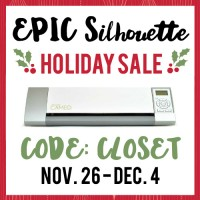 EPIC Silhouette Holiday Sale | If you've been waiting for the perfect time to buy a Silhouette, this is it! The discounts are the steepest I have ever seen them, and just in time for the holidays, too. Use the code CLOSET when shopping in the Silhouette store to nab your discounts. And happy holidays!