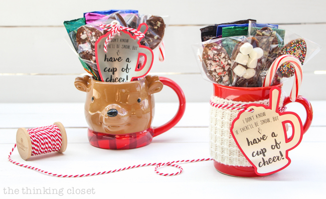 Hot Chocolate Stirring Spoons: Free Gift Tag Cut File — the ...