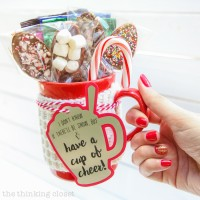 Hot Chocolate Stirring Spoons & FREE Gift Tag Cut File