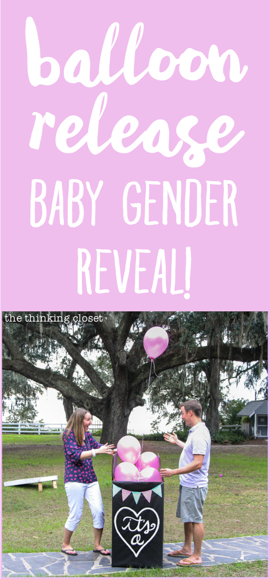 """It's a...GIRL!"" Our Balloons-in-a-Box Gender Reveal! How we pulled off the balloon release, tips we'd offer, and way more details that you ever wanted to know. {Tee hee.}"