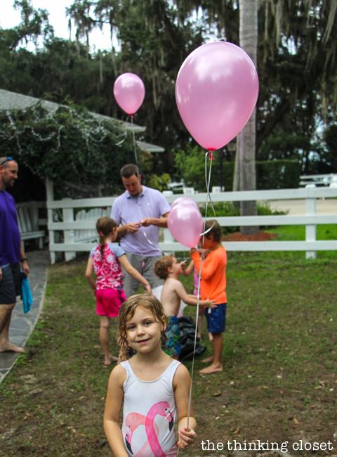 """""""It's a...GIRL!"""" Our Balloons-in-a-Box Gender Reveal! How we pulled it off, tips we'd offer, and way more details that you ever wanted to know. {Tee hee.}"""