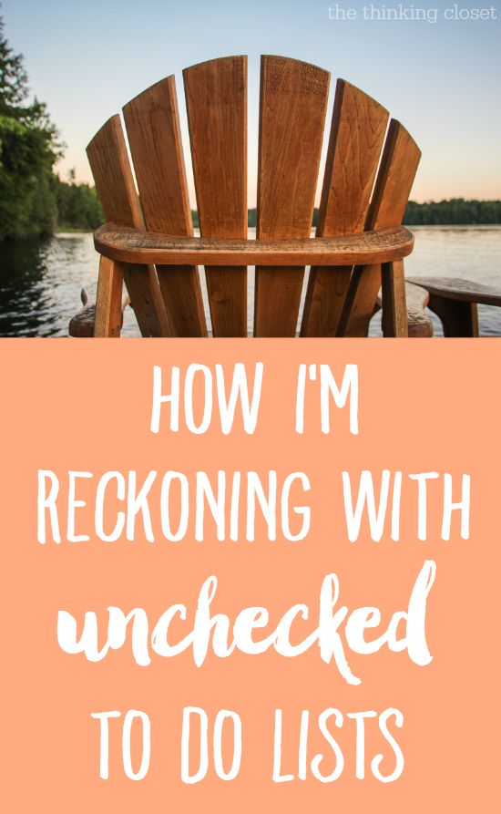 How I'm Reckoning with Unchecked To Do Lists: Snapshots and stories from our week in the woods as a new family of three, and how unchecked to do lists are teaching this recovering perfectionist a thing or two about the kind of life I want to live from here on out.  Join the conversation!