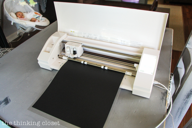 """""""Happy Fall, Y'all!"""" Watercolor Art: A Silhouette Cameo 3 Tutorial - Here's a glimpse at the AutoBlade and new locking mechanism for the blades on the new Cameo 3 machine!"""