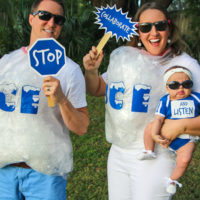 """Ice Ice Baby"" Punny Halloween Costume"