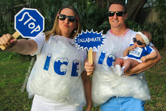 Ice ice baby punny halloween costume for a family diy tutorial ice ice baby punny halloween costume for a family of 3 the step solutioingenieria