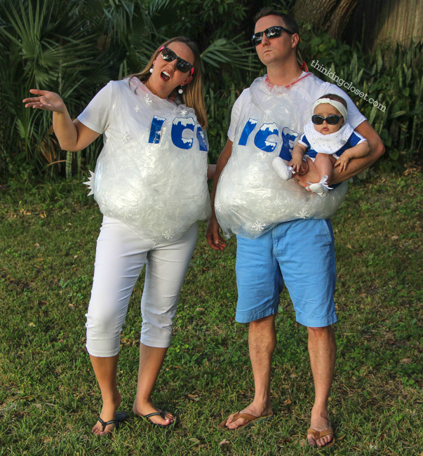 Ice Ice Baby  Punny Halloween Costume for a Family of 3! The step  sc 1 st  The Thinking Closet & Ice Ice Baby