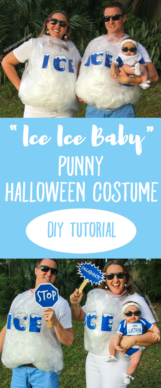 ice ice baby punny halloween costume for a family of 3 the step