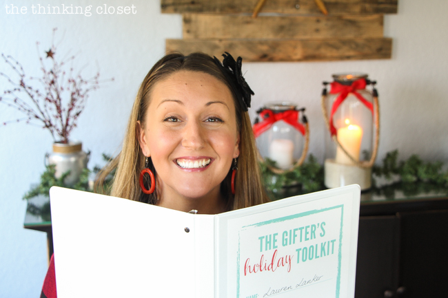 The Gifter's Holiday Toolkit: 5 Day Challenge! FREE printable worksheets and email inspiration designed to set you up for a season of stress free, joy-filled giving.