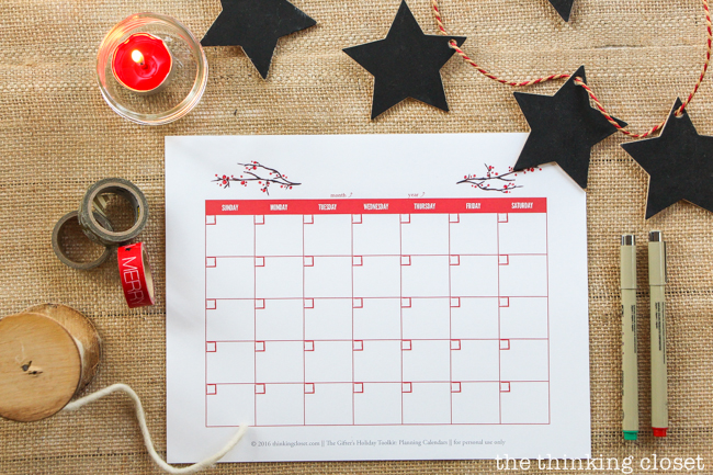 The Gifter's Holiday Toolkit: 5 Day Challenge! FREE printable worksheets and email inspiration designed to set you up for a season of stress free, joy-filled giving. Here's a sneak peek at day 4: Planning Calendars.