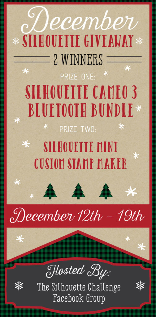 December Silhouette Giveaway! Enter to win a Silhouette Cameo 3 and Silhouette Mint! 2 sweet prizes for 2 lucky winners. Get ready to get your craft on in an EPIC way!