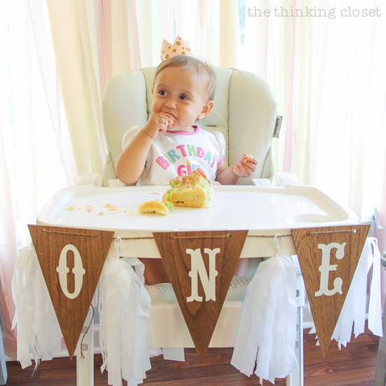 DIY Mini Birthday Crown for a Cupcake Smash!   A Blooming First Birthday Bash, inspired by spring flowers in pink, blush, and white. DIY party ideas for a woodland floral-themed celebration, spring fling, or botanical garden party!