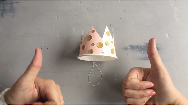 DIY Mini Birthday Crown for a cupcake smash! | Get a sneak peek into Juniper's Blooming First Birthday Bashand catch an inspiring timelapse video tutorial! All you need are a few supplies you already have at home and 15 minutes for this one. Love!