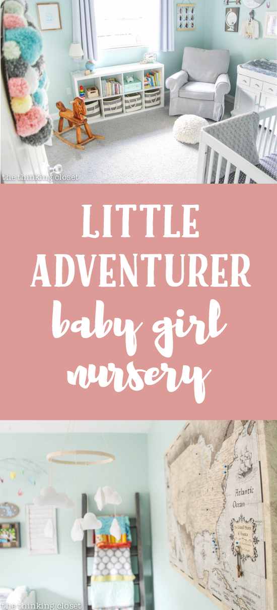 """Little Adventurer"" Baby Girl Nursery 
