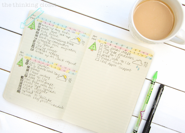 """""""Plan With Me"""" VIDEO: how to set up your bullet journal spreads for a productive new month using a camper adventure theme. Inspiration for your monthly log, monthly task list, habit tracker, mood tracker, gratitude log, weekly log, and dailies!"""