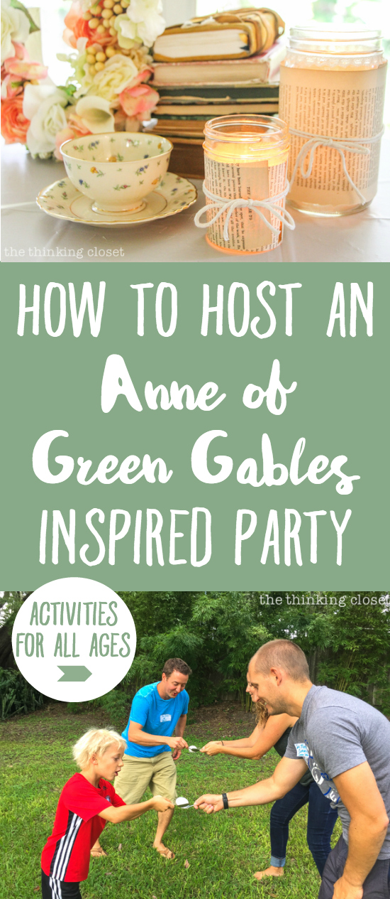 """How to host an """"Anne of Green Gables"""" or """"Anne with an E"""" themed birthday party with food, decor, activities, and games for the whole family! SO many creative ideas jam-packed in this post. Eek!"""