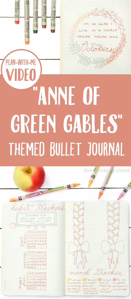 """Anne of Green Gables"" Themed Bullet Journal & ""Plan With Me"" VIDEO 