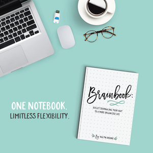 Ever wish you had a best friend who could explain—in detail—exactly how to make bullet journaling work for your style and schedule, without taking a lot of time or effort? Kalyn Brooke will guide you step-by-step in her brand-new resource: Brainbook - Bullet Journaling Your Way to a More Organized Life
