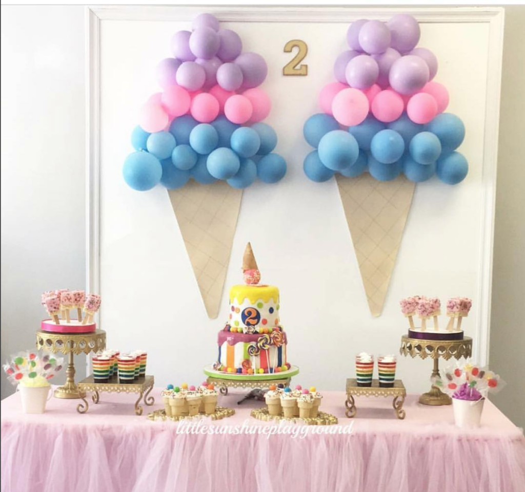 Second Home Decorating Ideas: Ice Cream Themed Birthday Party: DIY Decor Ideas