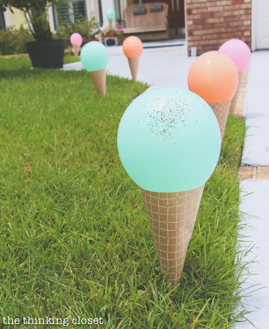 Ice Cream Themed Birthday Party: DIY Decor Ideas - the