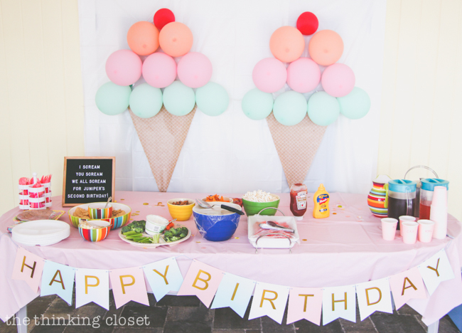 Ice Cream Themed Birthday Party Diy Decor Ideas The Thinking Closet