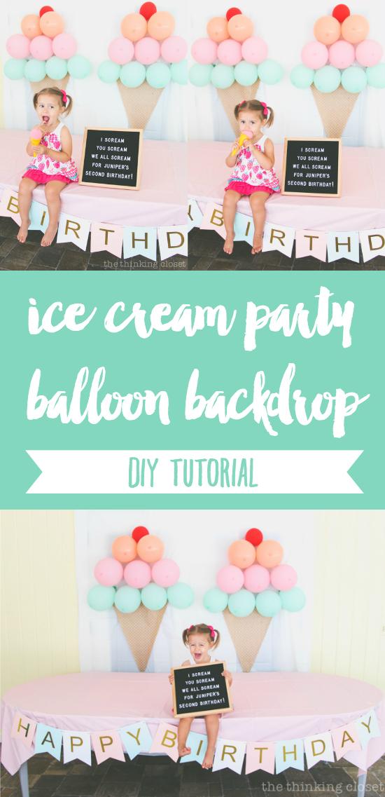 ice cream themed birthday party diy decor ideas the thinking closet