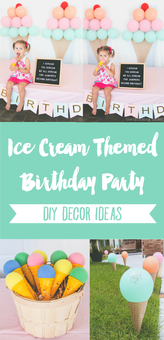 cf4d69f93e9b Love this Ice Cream Themed Birthday Party Inspiration! DIY party ideas from  Juniper's 2nd Birthday