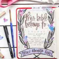"How to Create a ""This Bible Belongs To"" Page in Your Journaling Bible"